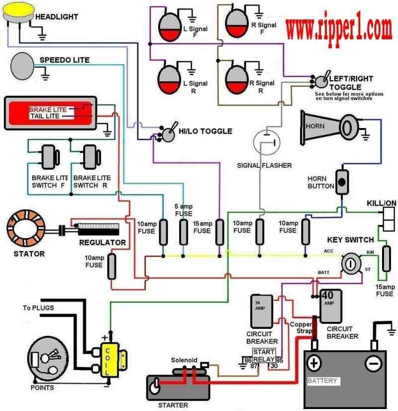 Basic Wiring - Queenz Kustomz with regard to Ignition Wiring Diagram