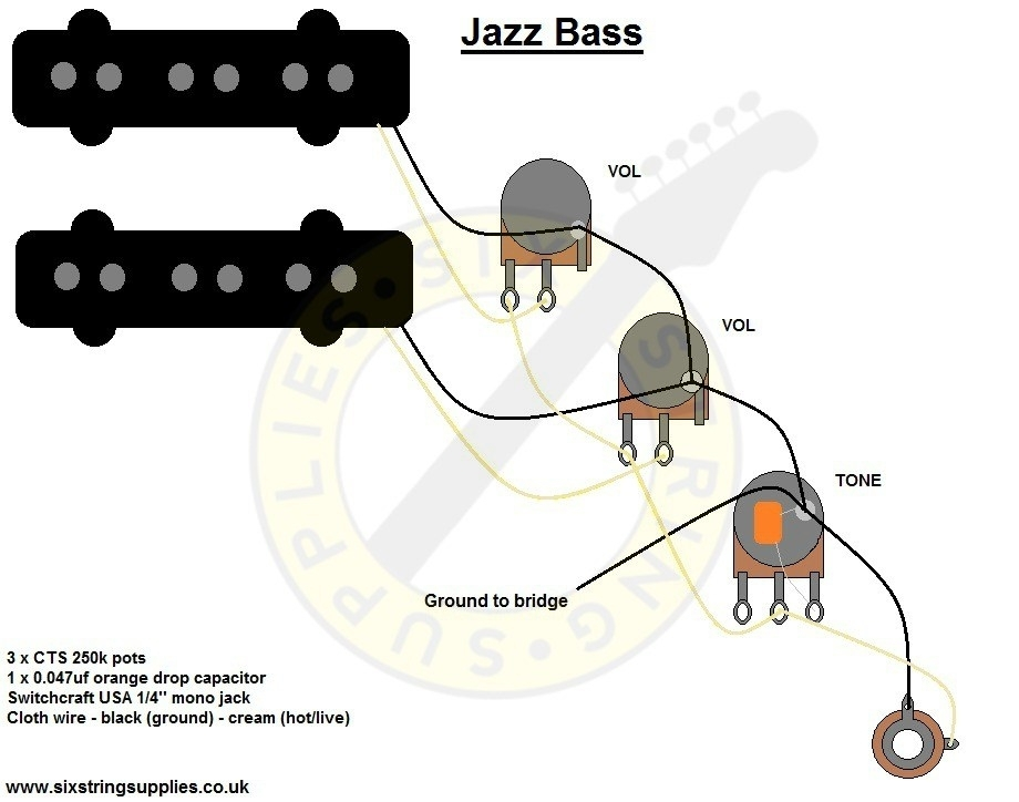 Bass Wiring Diagram inside Jazz Bass Wiring Diagram