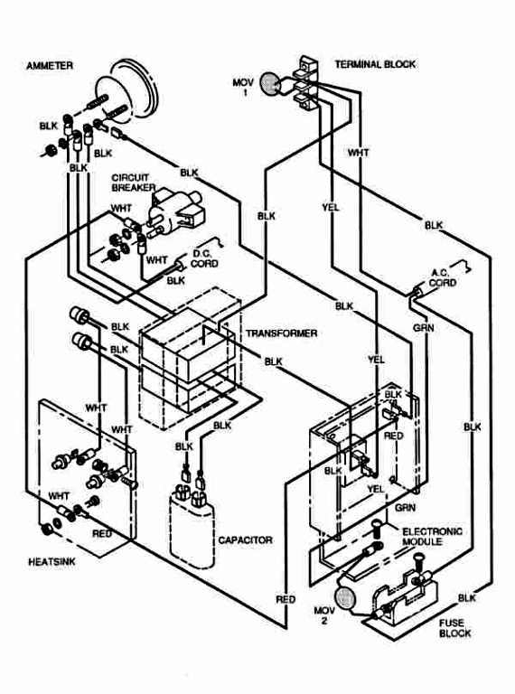 Battery Wiring Diagram For Ezgo Golf Cart regarding Ez Go Golf Cart Battery Wiring Diagram
