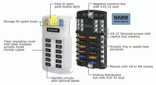 Bluesea Fuse Block Detail   Offroad, Well Mostly Jeep   Pinterest throughout Blue Sea Wiring Diagram
