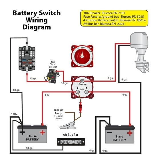 boat switch wiring diagram