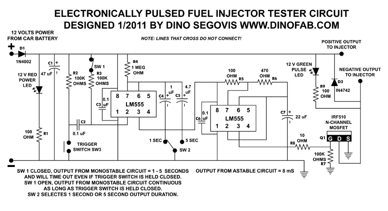 Building An Electronic Fuel Injector Tester | Hack A Week within Fuel Injector Wiring Diagram