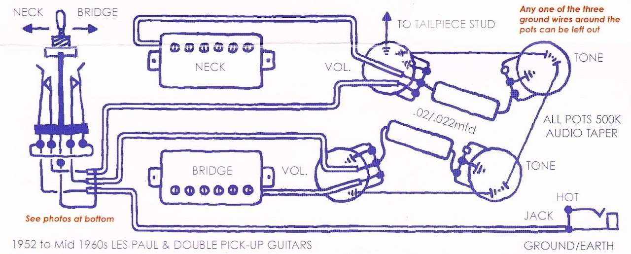 Bumblebee Luxe Radio Capacitors Wiring Diagram regarding 50's Les Paul Wiring Diagram
