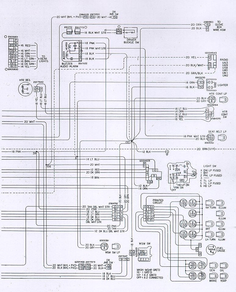 Camaro Wiring & Electrical Information intended for 1974 Camaro Wiring Diagram