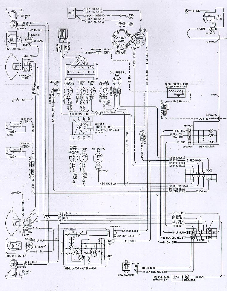 Camaro Wiring & Electrical Information with 1974 Camaro Wiring Diagram