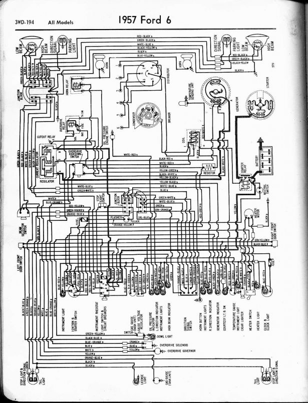 Car 1957 Wiring Diagrams Buick Wiring Diagrams All