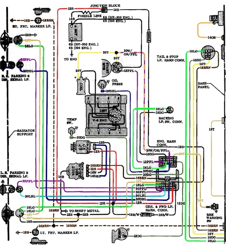 Chevelle Starter Wiring. Car Wiring Diagram Download. Moodswings.co with regard to 1974 Corvette Starter Wiring Diagram