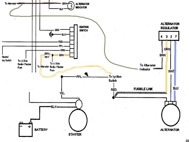 Chevy Alternator Wiring Diagram throughout Chevy Alternator Wiring Diagram