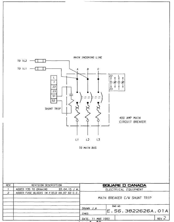 Circuit Breaker Shunt Trip Wiring Diagram pertaining to Circuit Breaker Shunt Trip Wiring Diagram