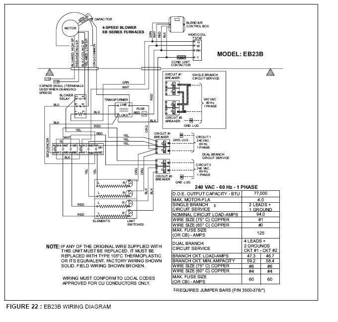 eb17b electric furnace wiring diagram for nordyne furnace