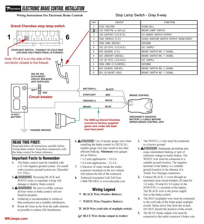 Wiring Diagram For An Electric Brake Controller : Curt brake controller wiring diagram facbooik throughout