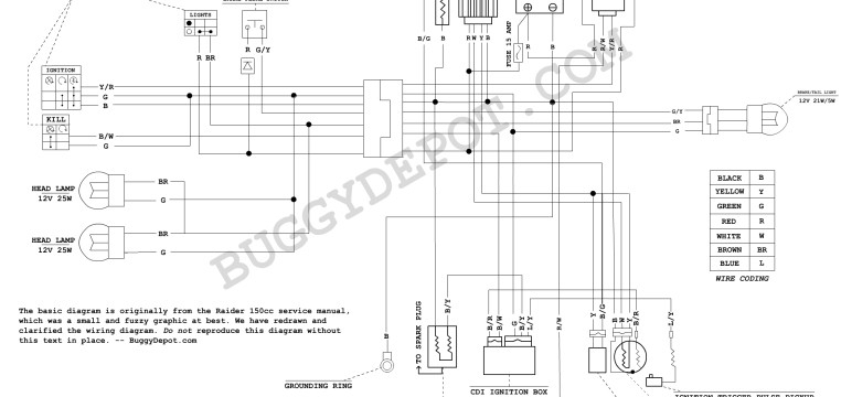 Dazon Raider Classic - Wiring Diagram - Buggy Depot Technical Center for 150Cc Go Kart Wiring Diagram