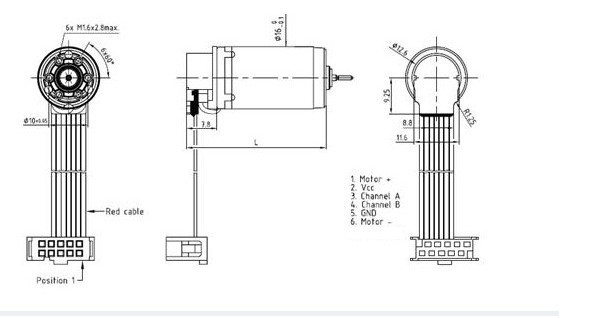 Dc Gear Motor Coreless Motor Servo Motor With 512 Line Encoder 12V pertaining to Encoder Wiring Diagram