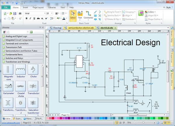 Design Software with regard to Free Software For Electrical Wiring Diagram