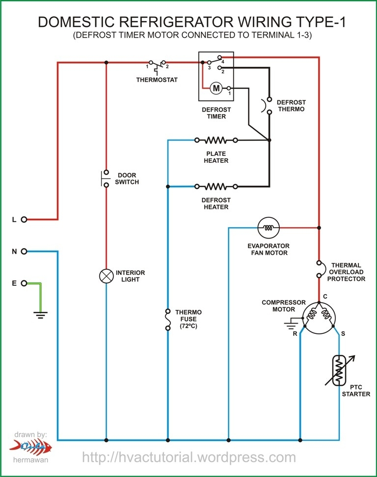 Domestic Wiring Diagrams : Domestic refrigerator wiring hermawan s