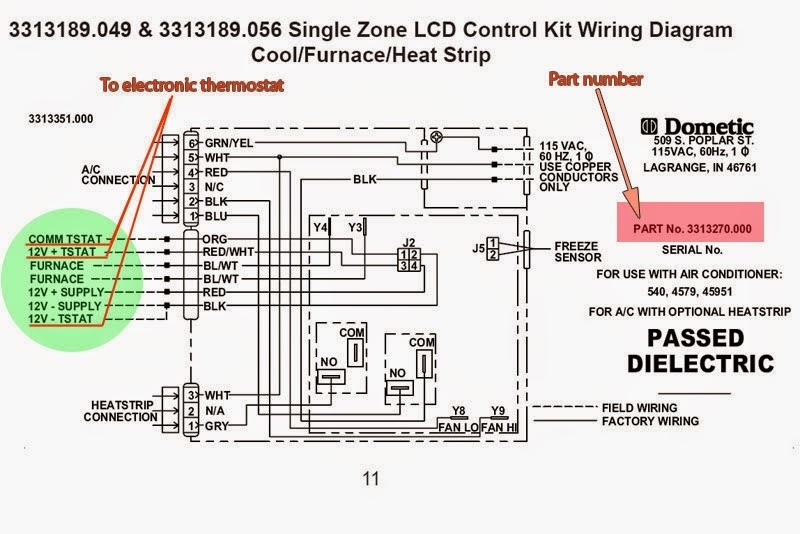 Dometic thermostat wiring diagram fuse box and