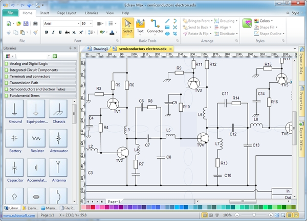 Drawing Software in Free Software For Electrical Wiring Diagram