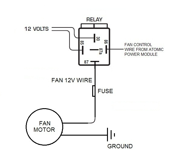 electric fan control throughout fan relay wiring diagram