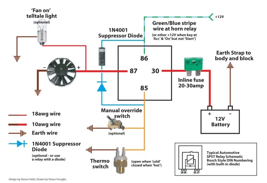 Electric Fan Relay Wiring Diagram And Electric Fan Wiring Diagram with regard to Electric Fan Relay Wiring Diagram
