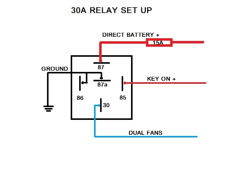 Relay Wiring Diagram 8 Pole : Electric fan relay wiring diagram fuse box and