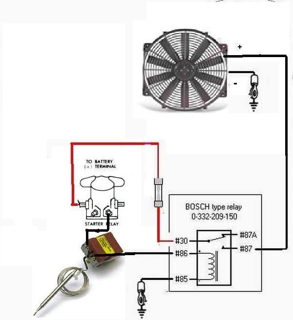 Electric Fans With Relay Wiring Ford Mustang Forum With Regard - Blower Relay Wiring Diagram