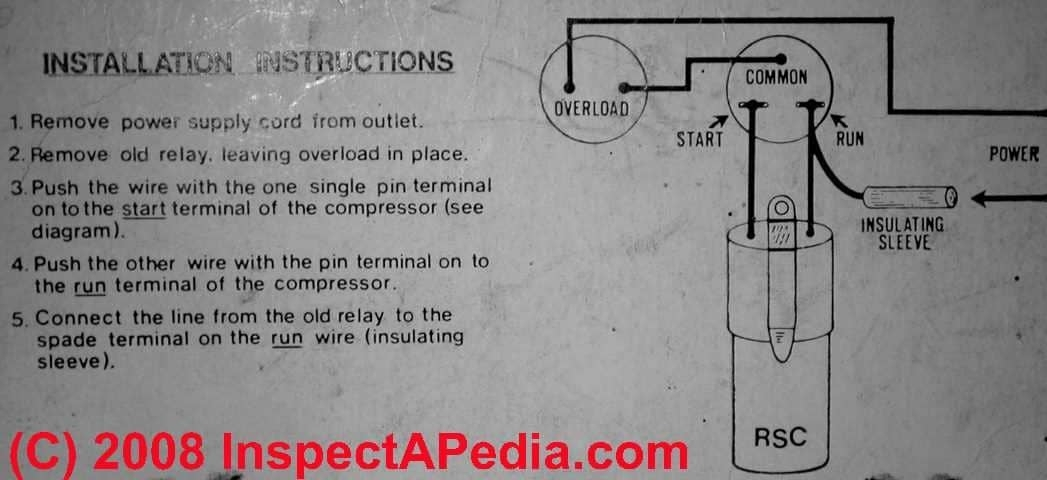 Electric Motor Starting Capacitor Wiring & Installation with Ac Capacitor Wiring Diagram