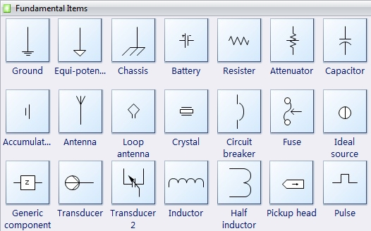 Electrical Diagram Software - Create An Electrical Diagram Easily pertaining to Electrical Wiring Diagram Symbols