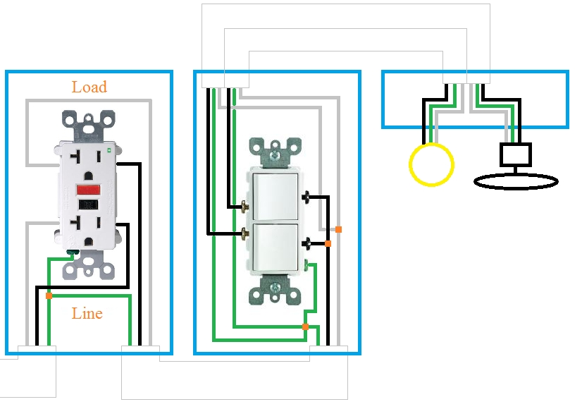 Electrical - How Can I Rewire My Bathroom Fan, Light, And with Double Light Switch Wiring Diagram