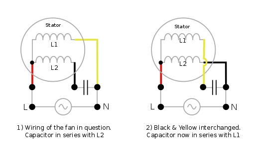 Electrical - How Do I Re-Wire A Ceiling-Fan To Reverse Its with Electric Motor Wiring Diagram Capacitor