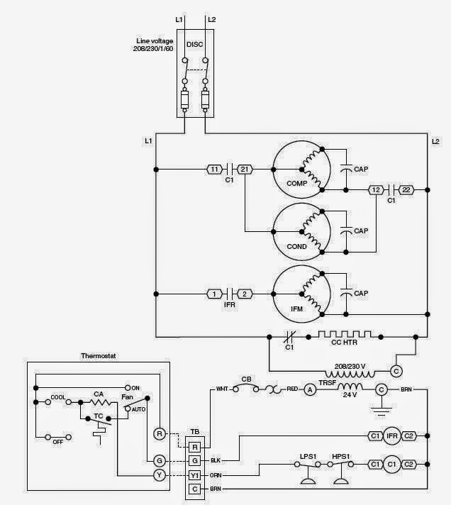 wiring diagram for goodman package unit