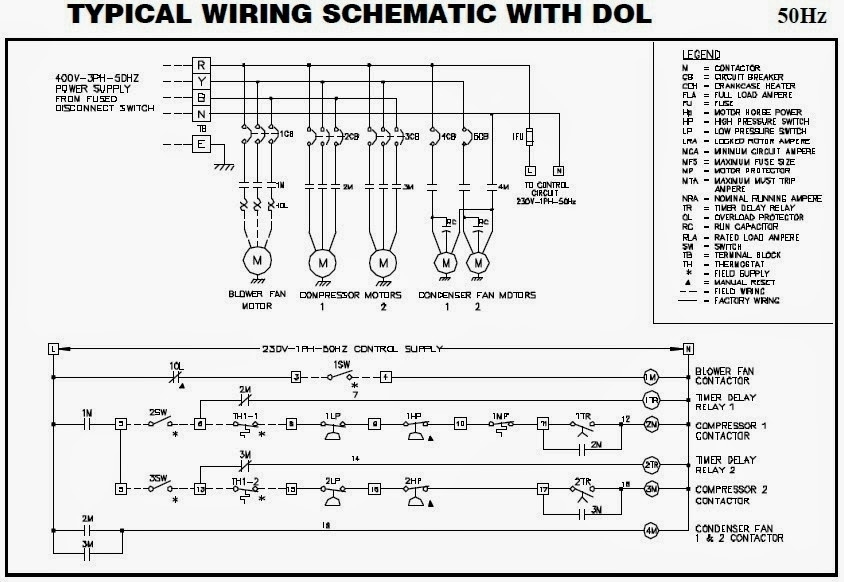 Electrical Wiring Diagrams For Air Conditioning Systems – Part Two inside Electrical Wiring Diagram