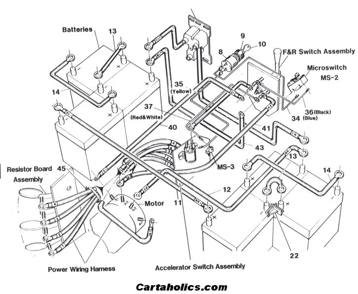 Ez Go Golf Cart Battery Wiring Diagram 36 Volt Golf Cart Wiring inside Ez Go Golf Cart Battery Wiring Diagram