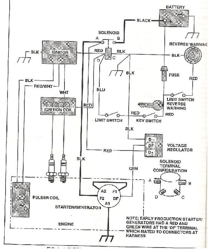ez go electric golf cart wiring diagram
