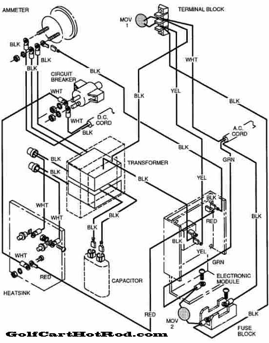 Ez go golf cart wiring diagram volt power wise
