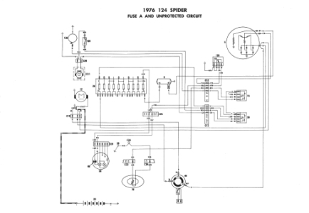 Fiat 124 Spider - Electrical Schemes within 1975 Fiat Spider Wiring Diagram
