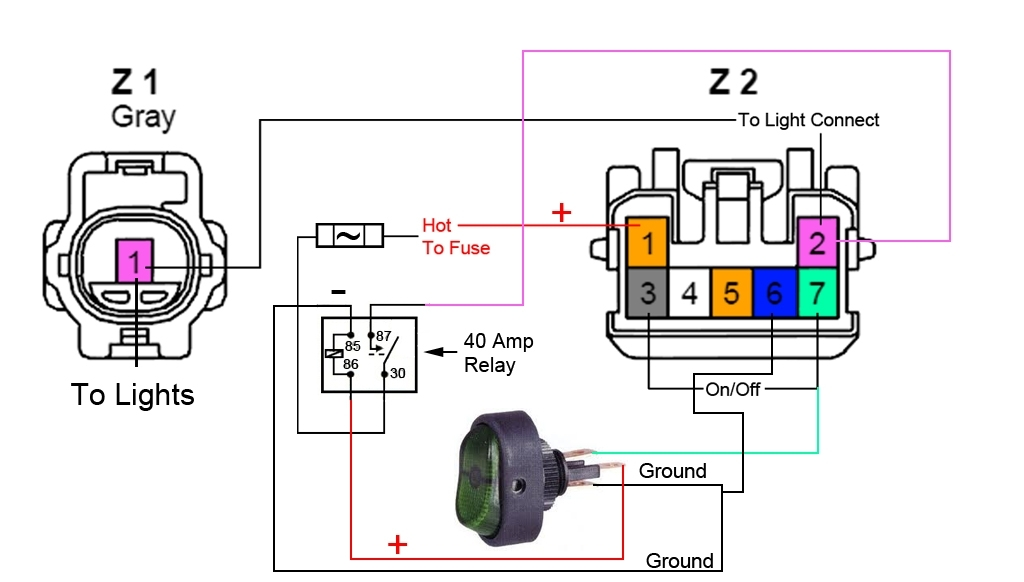 Fog Light Switch Wiring. Wiring Diagram Images Database. Amornsak.co in Fog Light Wiring Diagram