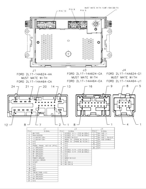 Ford Car Radio Stereo Audio Wiring Diagram Autoradio Connector pertaining to Ford Radio Wiring Diagram
