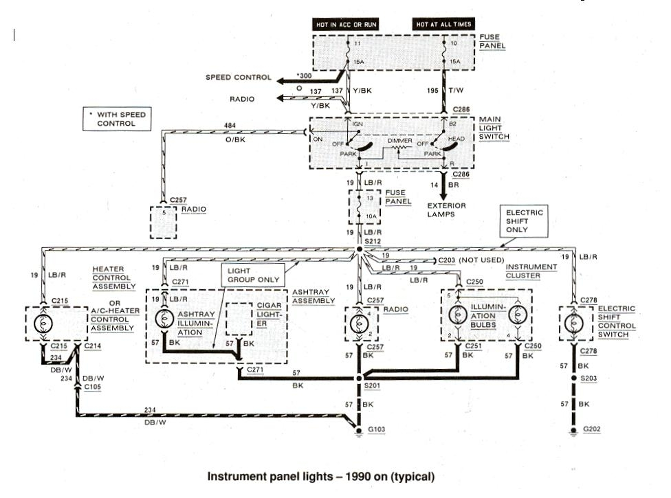 Ford Ranger Wiring By Color - 1983-1991 in 93 Ford Ranger Wiring Diagram