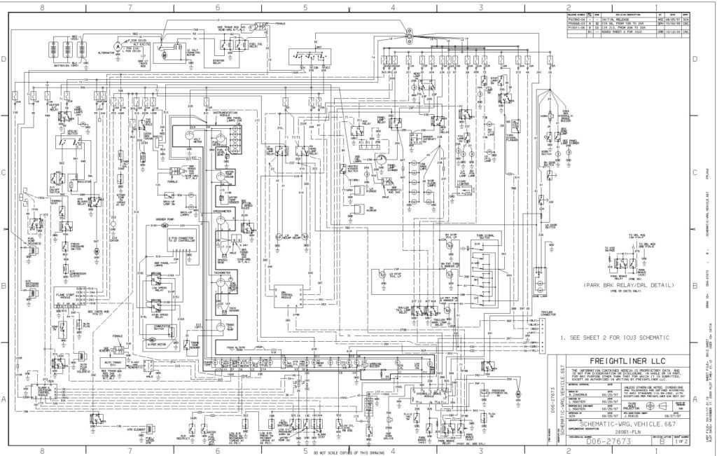 freightliner headlight wiring diagram