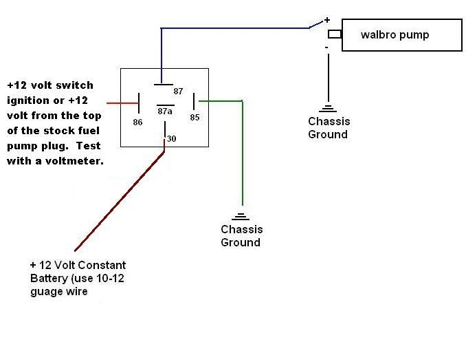 Fuel Pump Relay Wiring Diagram How To Rewire Install Fuel Pump for Fuel Pump Wiring Diagram