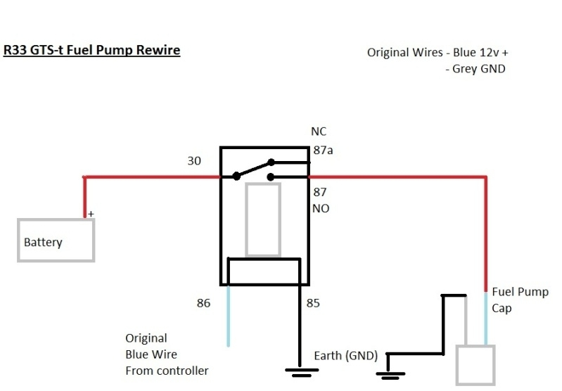 Fuel Pump Relay Wiring Diagram How To Rewire Install Fuel Pump inside Fuel Pump Wiring Diagram