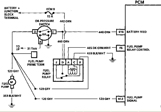 Fuel pump wiring diagram fuse box and