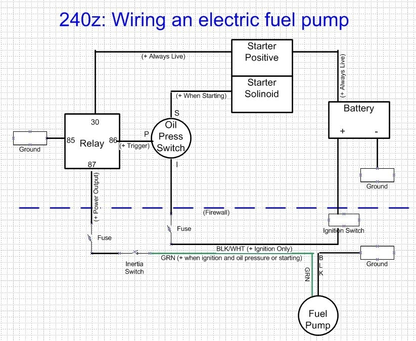 Fuel Pump Wiring Harness ?s - Electrical - Classic Zcar Club for Airtex Fuel Pump Wiring Diagram