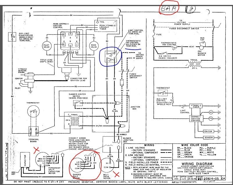 Gas Furnace Wiring Diagrams intended for Gas Furnace Wiring Diagram
