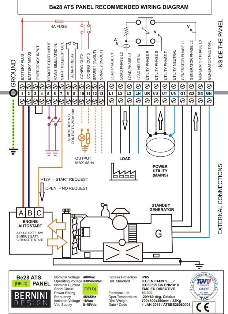 Generator Transfer Switch Wiring Diagram : Generac automatic transfer switch wiring diagram fuse