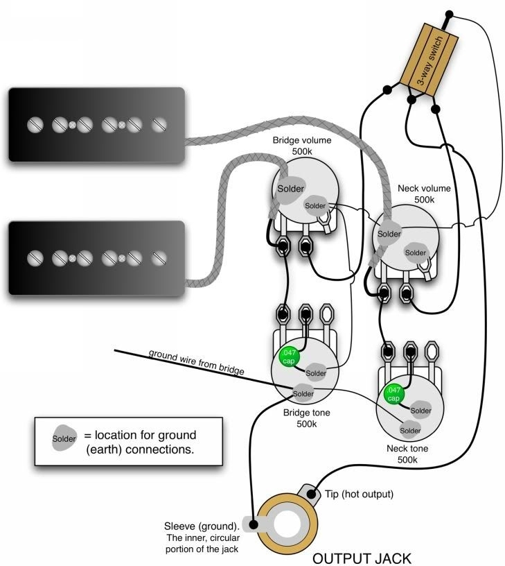 Gibson Double Neck Wiring Diagram Wiring Diagram Gitar Listrik inside Gibson Eds 1275 Wiring Diagram