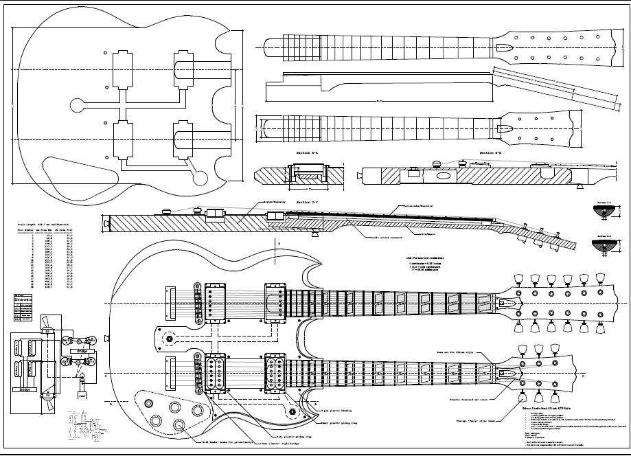 Gibson Eds 1275 Double Neck _ 0 | Dibujos | Pinterest | Guitars inside Gibson Eds 1275 Wiring Diagram