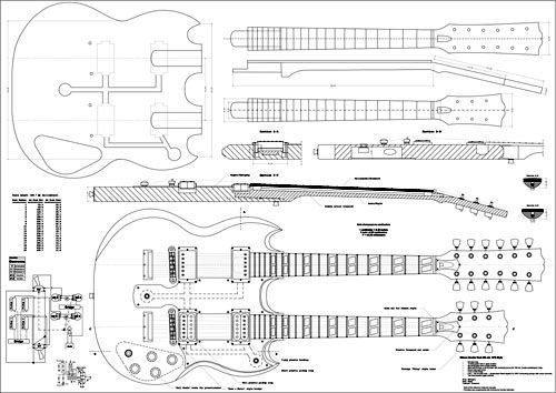 Gibson Eds 1275 Double Neck _ 0 | Dibujos | Pinterest | Guitars within Gibson Eds 1275 Wiring Diagram