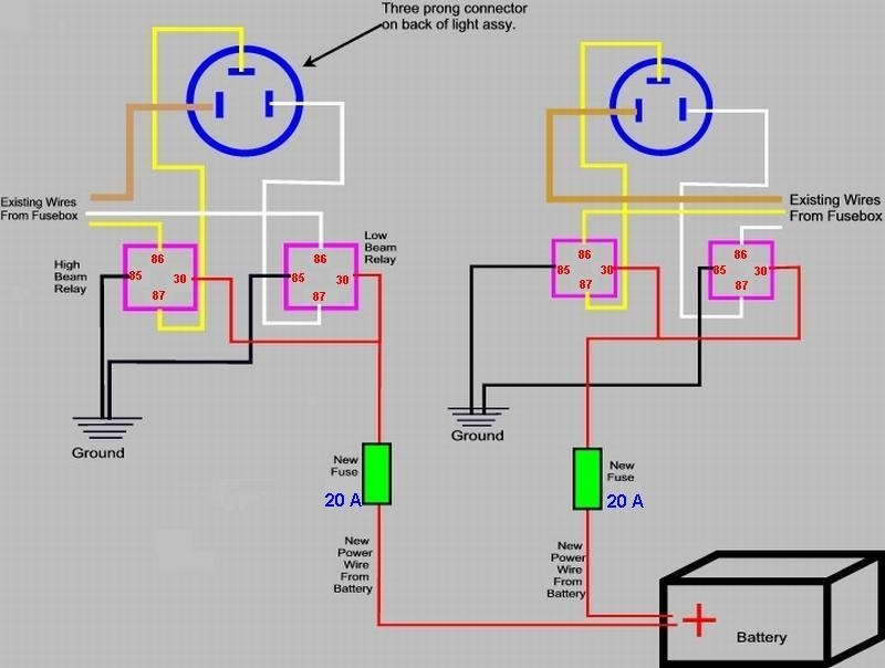 Gm 4 Wire Relay Diagram Headlight Wire Diagram Headlight Wiring for Headlight Wiring Diagram