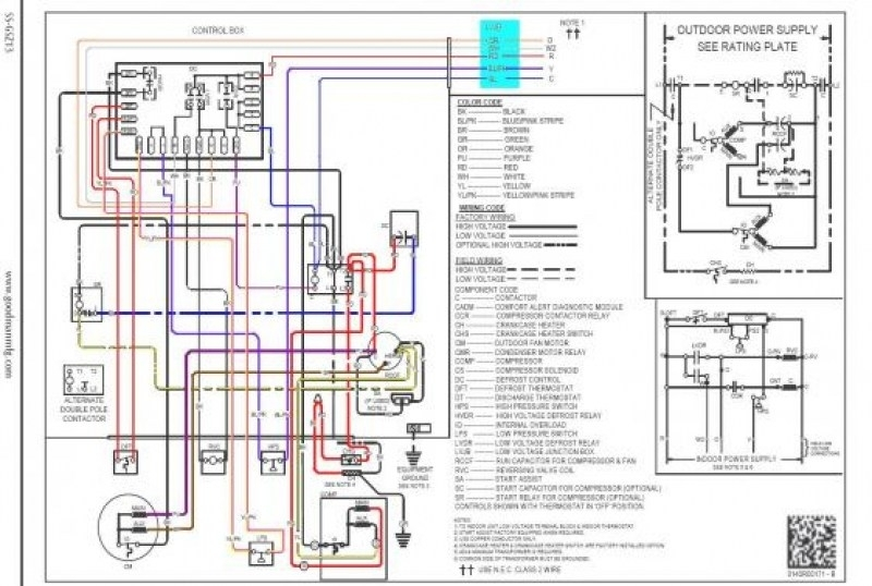 Goodman Heat Pump Wiring Diagram Thermostat : Goodman heat pump thermostat wiring diagram fuse box and